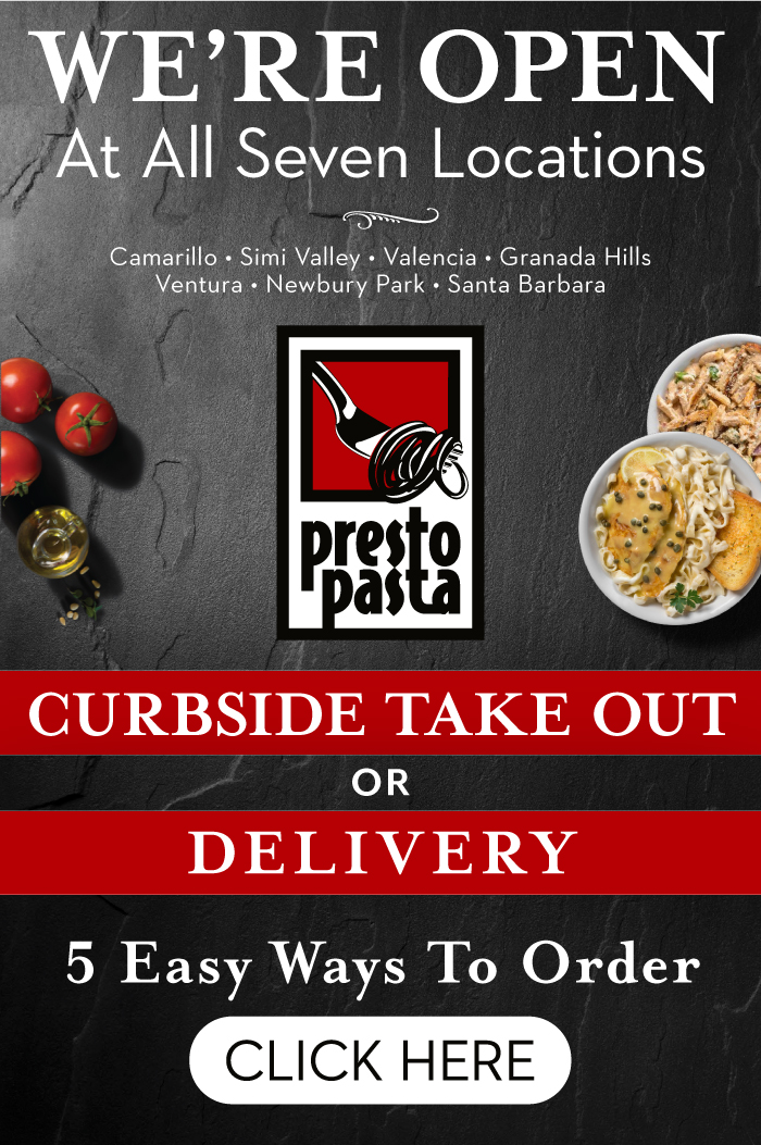 We're Open at all Seven Locations! Curbside Takeout or Delivery. Click here for 5 easy ways to order.